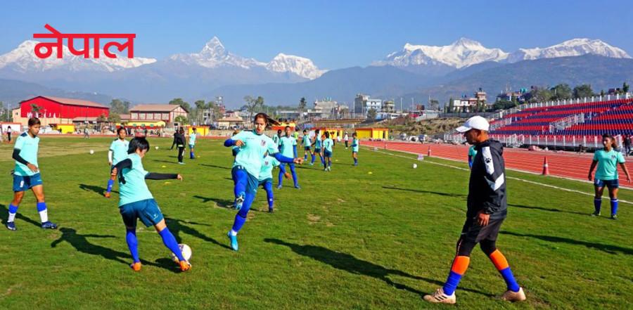 महिला फुटबलमा भारत तगारो