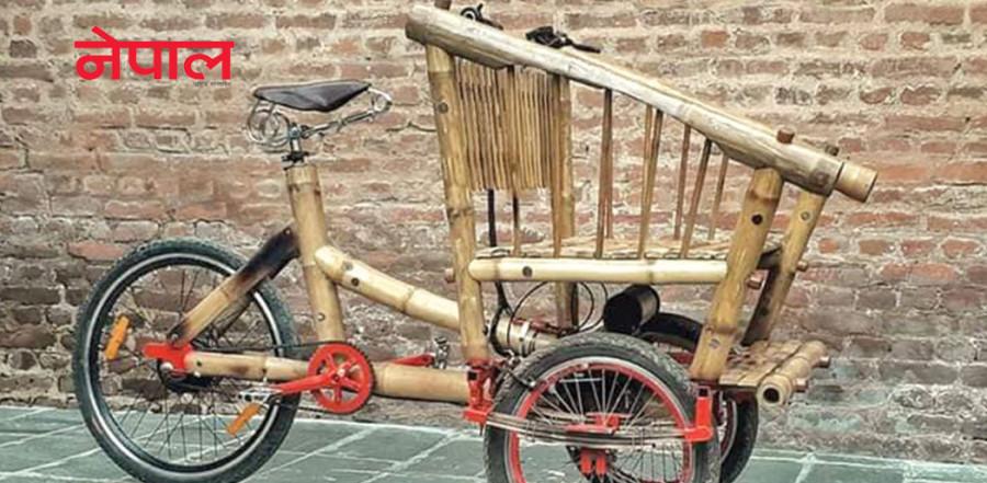 बाँसको कार्गो बाइक